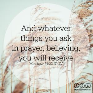 Ask, Pray, Believe